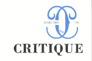 Critique (revue) | Lindon, Jérôme. Metteur en scène ou réalisateur